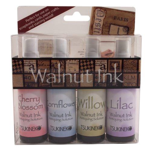 Tuskineko Walnut Ink Sampler II, 4-Pack