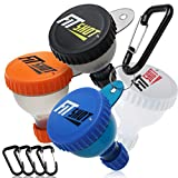 FitShot Protein Powder Funnel– Supplement Funnel with Keychain 4pack, Water Bottle Funnels, BPA...