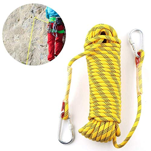 Kletterseile im Freien 10 m Feuerrettungs-Fallschirmseil Perfekt für Camping Wandern Abfahrt Hängematte Schaukeln Bootfahren Höhlenforschung Angeln Ingenieurwesen Fahnenmast-Lanyards usw.
