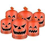 6 bolsas grandes de césped de calabaza para Halloween en 2...
