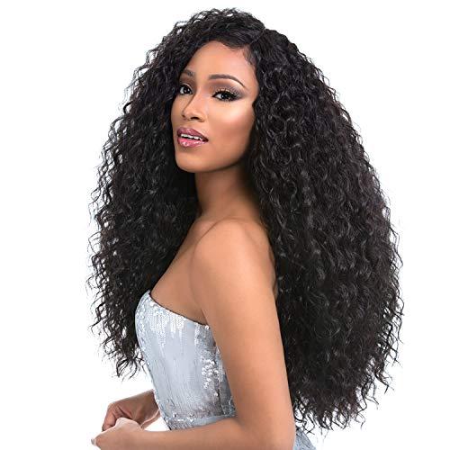 """Sensationnel Human Hair Blend Weave Premium Too 3 Multi Bundles Boutique Deep (18""""+20""""+22"""") + 4"""" Deep Lace Parting (1B)"""