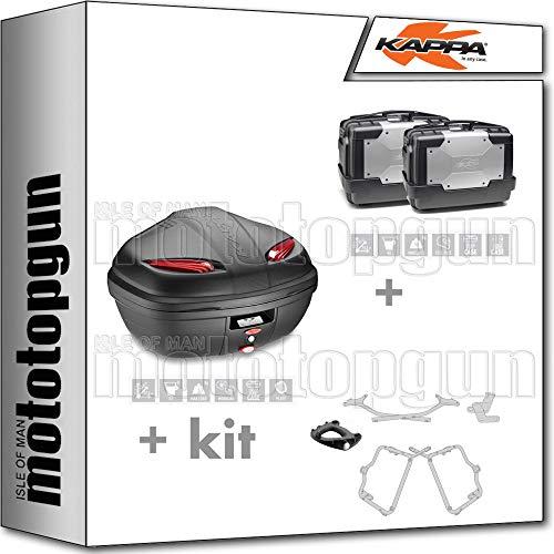 K47N KGR46PACK2 - Portabolígrafos con soporte monocromo y portador lateral compatible con Honda CB 500 X 2015 15 2016 16