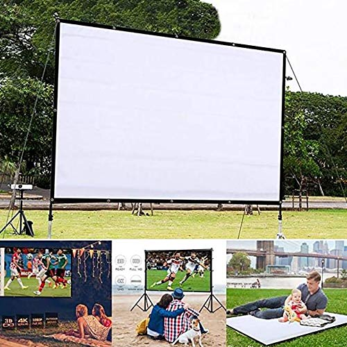 Generic 120 inch Projector Screen,16:9 HD Projection Screen Outdoor Indoor Portable Polyester Fabric Homehold Movie Screen