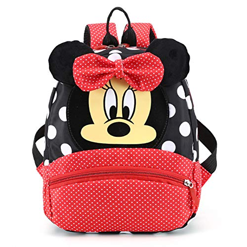 CYSJ Mochilas Escolares, Mochila 3D Minnie Mickey Mouse, Mochila Escolar para Niños, Mochila de Gran Capacidad,Mochila de Viaje para Deportes al Aire Libre, Regalo de Cumpleaños para Niños