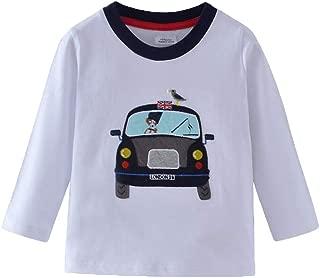 Mengmeng Cartoon Crocodiles Elephants Tee 100% Cotton Baby Boy Long Sleeve T-Shirt