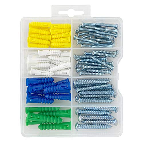 HangDone Wall Anchor Kit 4 Sizes with Screws