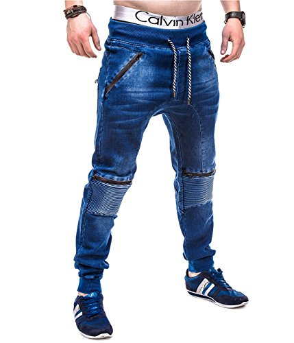 BetterStylz Portland joggingbroek in jeans-look jeanslook sweatbroek jogger used washed (XL)