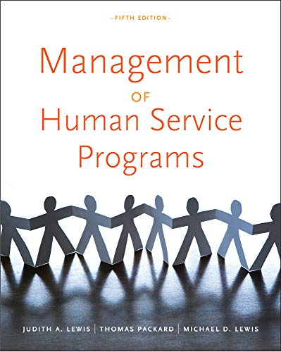 Management Of Human Service Programs Sw 393t 16 Social Work Leadership In Human Services Organizations