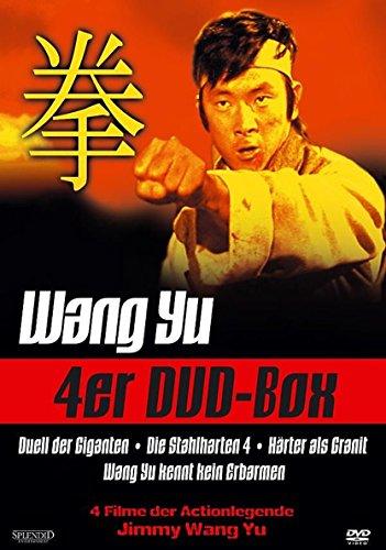Actionlegende WANG YU - 4er EASTERN EDITION Duell der Giganten + Die stahlharten 4 + Härter als Granit + Wang Yu kennt kein Erbarmen DVD Box COLLECTION