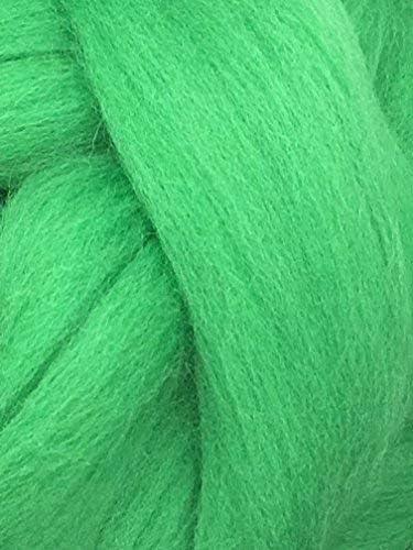 Green Daily Spasm price bargain sale Wool Roving Shep's Top Fiber - Merino