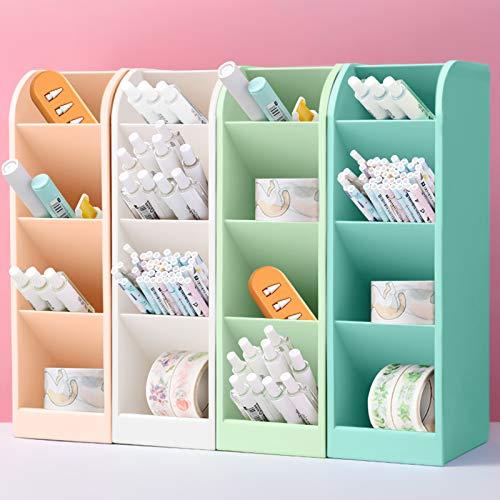 4 piezas lapiceros para escritorio,Organizador de escritorio,compartimentos Soporte para bolígrafo,Portalápices Multifuncional,Soporte para bolígrafo de Escritorio,Organizador de Pluma