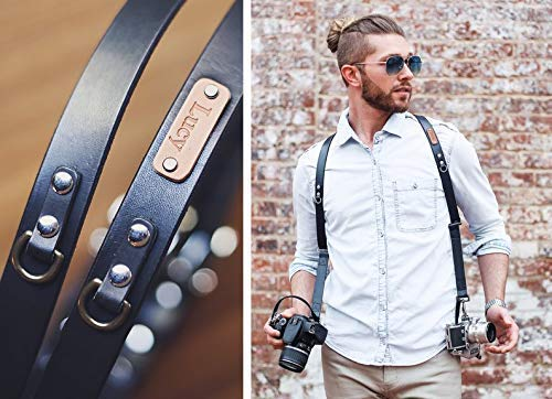 Custom double camera strap Wedding photographer personalized Dual camera harness is made of 100/% genuine leather Dual DSLR leather strap.
