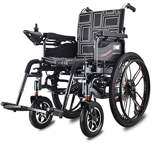 Inicio Accesorios Ancianos Discapacitados Silla de ruedas eléctrica para trabajo pesado Silla de ruedas eléctrica plegable y liviana 360 grados Joystick Ancho del asiento 46Cm Capacidad de peso 120