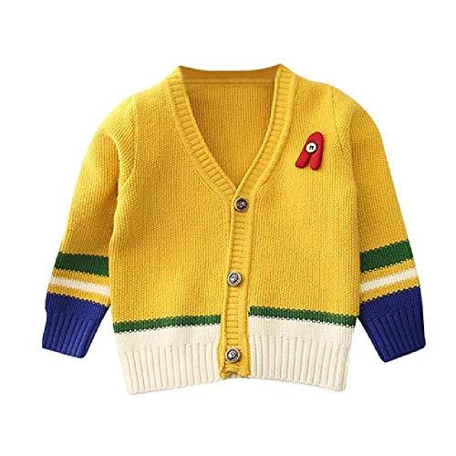 YNPM 0-3T Baby Maglione Ragazzo Maglia Cardigan Giacca Invernale Neonato Maglione Cappotto Top Ragazze Cardigan Maglioni Casual Bambino Vestiti Y 4 Anni