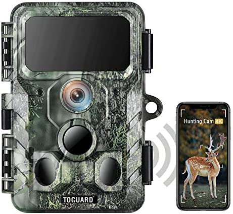 TOGUARD 4K WiFi Trail Camera Bluetooth 30MP Hunting Camera with IR LEDs Night Vision Game Camera product image