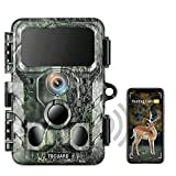 TOGUARD 4K Native WiFi Trail Camera - 30MP Wildlife Camera with Night Vision Motion Activated Hunting Camera 120° Detection Waterproof IP66 for Wildlife Monitoring Discovery