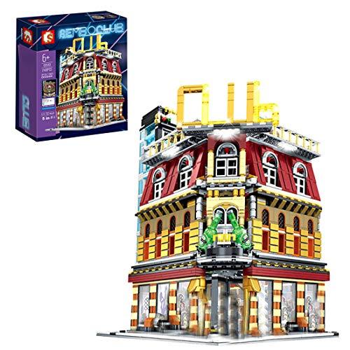 CT-Tribe Bausteine Architektur Modell, Fünf in One City Nachtclub Modular Architektur Modell mit 2488 Teile,...