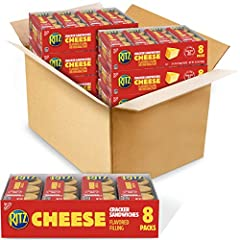 Includes forty-eight total snack packs of 6 Nabisco Ritz Cheese Sandwich Crackers Delicious Ritz Cracker Sandwiches are the classic go-anywhere snack that kids and adults love Each layers a mouthwatering cheese spread, made with real cheese, between ...