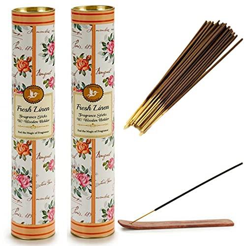 Fragancias de incienso más populares, aroma de varillas que quema para la meditación, regalo de yoga en casa, lección de aprendizaje natural indio, curación de chacras perfumado regalo (60 piezas).