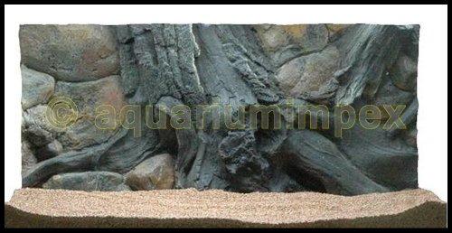 3D Rückwand 80x40 Aquariumrückwand Amazonas