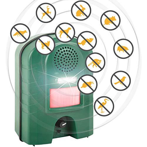 VOSS.sonic Ultraschall Vertreiber mit Bewegungsmelder & Blitz - Marderschreck, Katzenschreck, Tierschreck, Waschbären inkl. Netzteil und Erdstab - 4