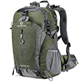 FENGDONG 40L Waterproof Lightweight Hiking,Camping,Travel Backpack for Men Women (green)