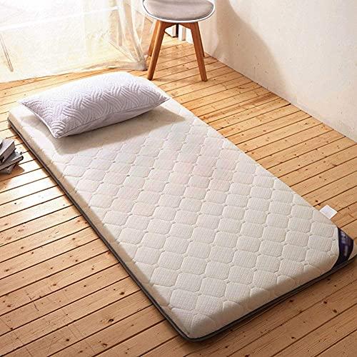 RTYUIO Tapete de Tatami, colchón de futón japonés Transpirable, colchón Grueso Plegable, Almohadilla para Dormir portátil para Dormitorio de Estudiantes-b-White 150x190cm (59x75inch)