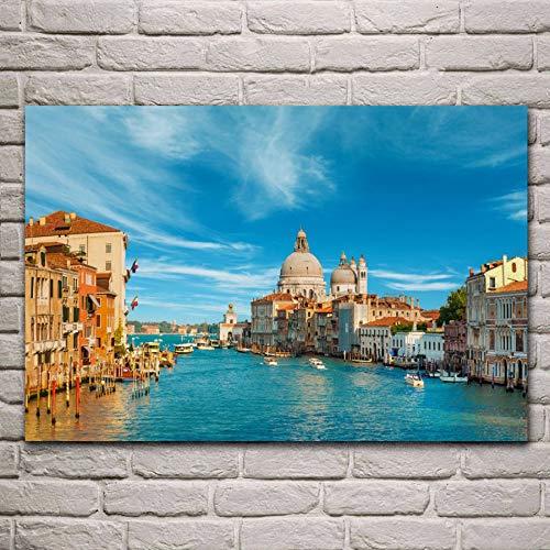 Asmoja 1000-teiliges Puzzle für Erwachsene, Familienspiel, Teambuilding, Geschenk und Geschenk für Liebhaber oder Freunde Venedig, Canal Grande, Venedig 50x75cm