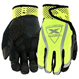 West Chester Protective Gear 88208 Extreme Work VizX Gloves – X-Large, Safety Performance w/Suede Palm, Hook and Loop Cuff, XTouch Index Finger