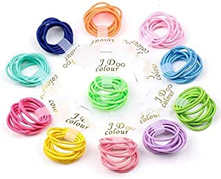Bysn 100pcs 1.8mm Mix Colors Baby Elastic Hair Ties Bands Holders Headband