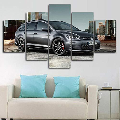 SESHA D 7 GTD Car Posters 5 Piezas Lienzo Impreso Decoración De Arte De Pared(Enmarcado)