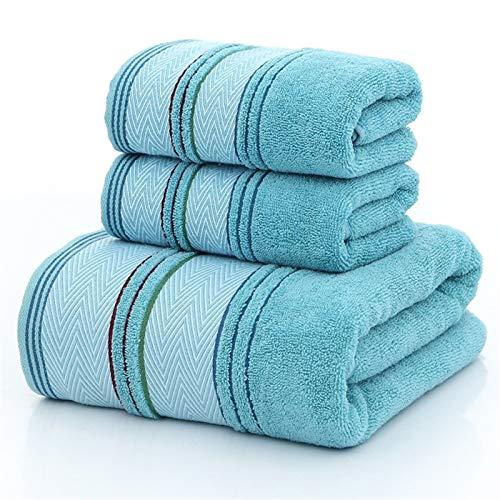 CHSDN Toallas de baño de Toalla de Gimnasia, Conjunto de Toallas de algodón para el hogar, Toalla de Cara para Adultos, baño súper Absorbente de Toalla de Playa