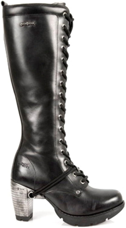 NEWROCK New Rock Boots Style M.TR005 S1 Black Womens Steel Heels (42)