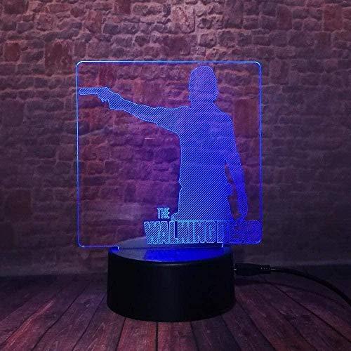 Tatapai Luces de noche Cool 3D Led Night Light Escritorio Mesa Lámpara para dormir 7 colores Decoración para el hogar U.S.Tv Drama Fans Regalos de Navidad