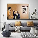 KWzEQ Imprimir en Lienzo Cute Monkey Posters andpictures Wall decordecor para Sala de arte70x105cmPintura sin Marco