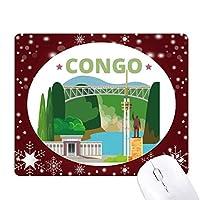 市の建物コンゴ川像 オフィス用雪ゴムマウスパッド