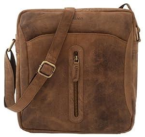 LEABAGS Stuttgart genuine buffalo leather crossbody bag in vintage style