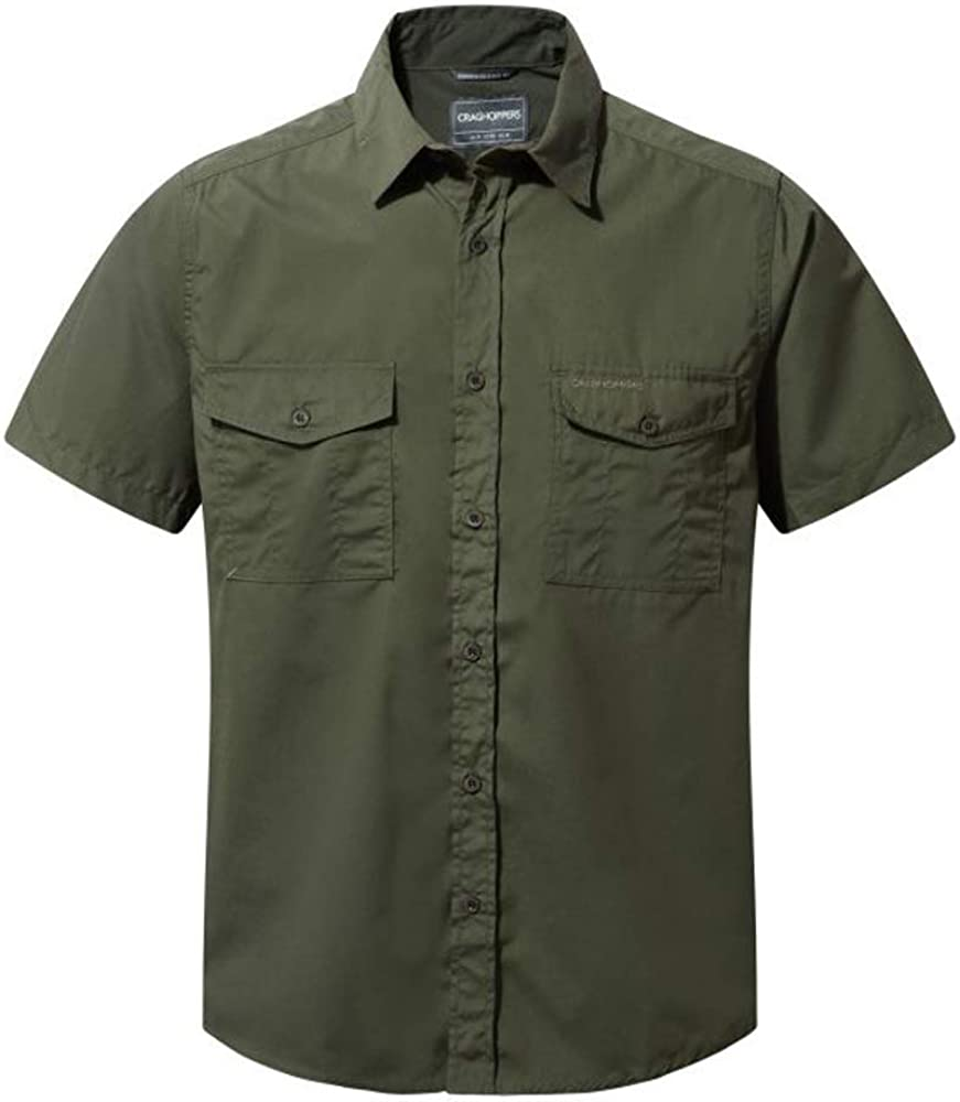 Craghoppers Selling Columbus Mall rankings Men's Kiwi Short-Sleeve Shirt Nosi Defence Pr Insect