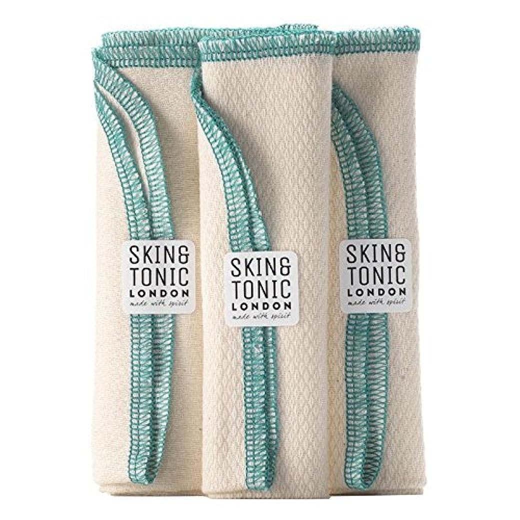 タンク素朴な消防士スキン&トニックロンドンオーガニックコットン生地 x4 - Skin & Tonic London Organic Cotton Cloth (Pack of 4) [並行輸入品]