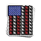 DKISEE Pegatina para coche, diseño de caniche, bandera...