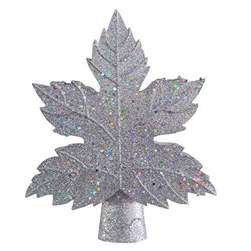 Hunpta @ Weihnachtsbaumspitze Projektor Lichter Schneeflocke Innen LED Projektionslampe Effektlicht Xmas Party Heimkino Deko Weihnachtsbeleuchtung Weihnachtsbaum Spitze Dekoration (Silber)