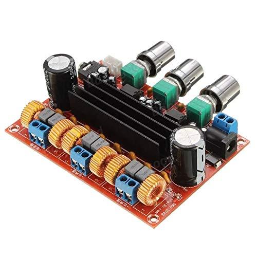 ZXJUAN draadloze controle 12V-24V TPA3116D2 50Wx2 100W 2.1-kanaals digitale subwoofer output volume versterker board instellen