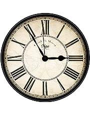 yidenguk wandklok,Analoge radiografische wandklok,Retro Wall Clock,Silent Non Ticking Wall Clock Grote Romeinse cijfers Wandklokken Ronde decoratieve wandklok voor woonkamer slaapkamer keuken (30 cm)