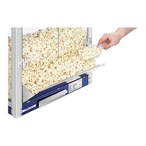 Royal Catering RCPR-1350 Popcorn Maker Professional Popcorn Machine (1350 W, Approx. 5 kg/h, Teflon Coating, 37 x 52,5 x…