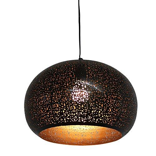 albena shop 75-100 Muja orientalische Lampe Metall ø 34cm schwarz/gold