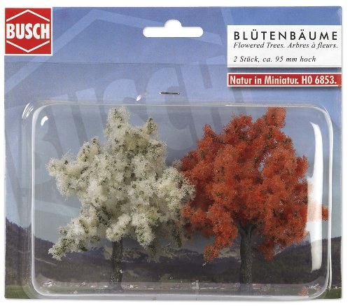 Hornby France - Busch - 6853 - Circuit - Train - 2 Arbres à fleurs assortis