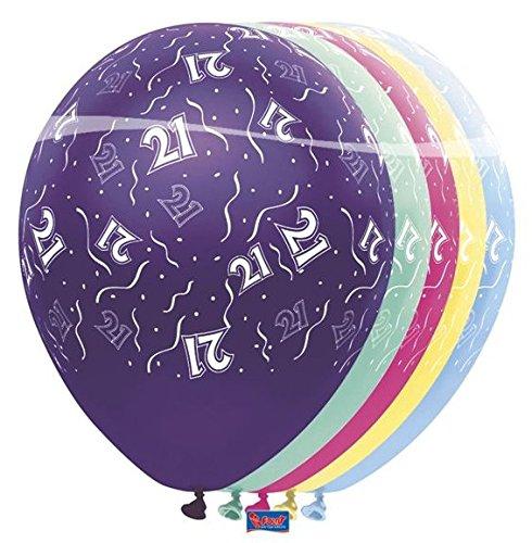10 stuks. Verjaardag ballon metallic 21 jaar party decoratie