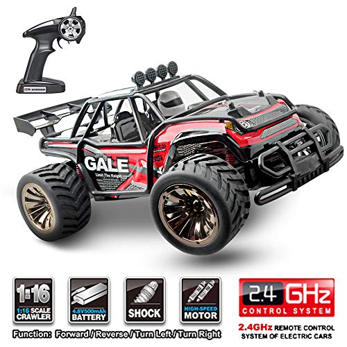 Refial Remote Control Car, RC Car Toys, Remote Control Monster Truck with 2.4GHz Radio Controlled Vehicle Off Road,Fast Remote Control Car for Kids and Adults 1/16 Scale
