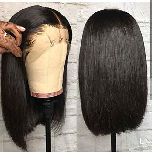 Vraies perruques de cheveux pour les femmes, perruques de cheveux raides 13X4 perruque coupée en coupe courte perruques avant de lacet brésiliennes droites perruques de Bob avec des cheveux de bébé