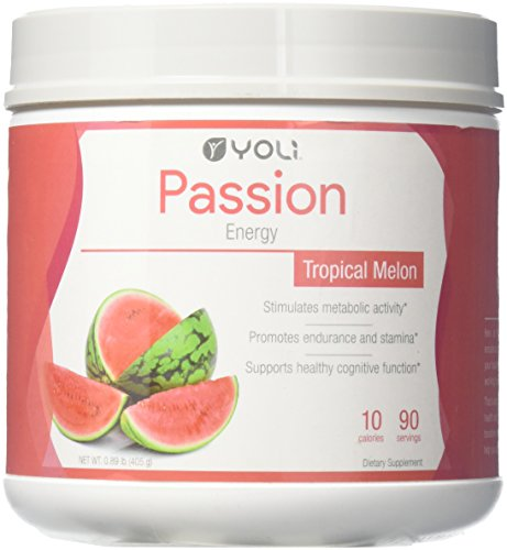 Yoli Passion Energy Drink - Tropical Melon Flavor - Canister